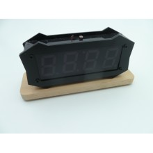 "1.2"" Inch LED Clock With Acrytic Case and Wooden Base"