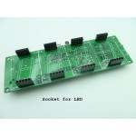 """4 digit 1.2"""" LED Digital Clock DIY KIT With Acrytic Case A"""